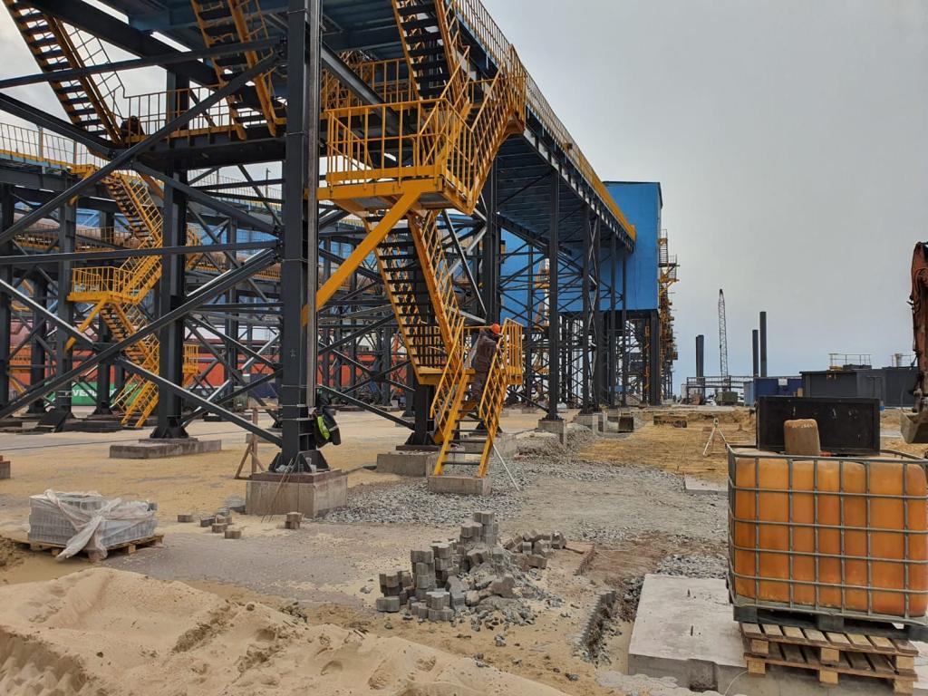 ТМПЗ приступил к завершающему этапу монтажно-строительных работ Морского терминала в порту Вистино.
