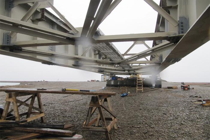 Мостовой переход через реку Угаткын на 683 км Чукотский Автономный Округ