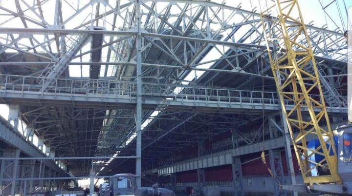 Завершена поставка металлоконструкций для ОЭМК Старый Оскол