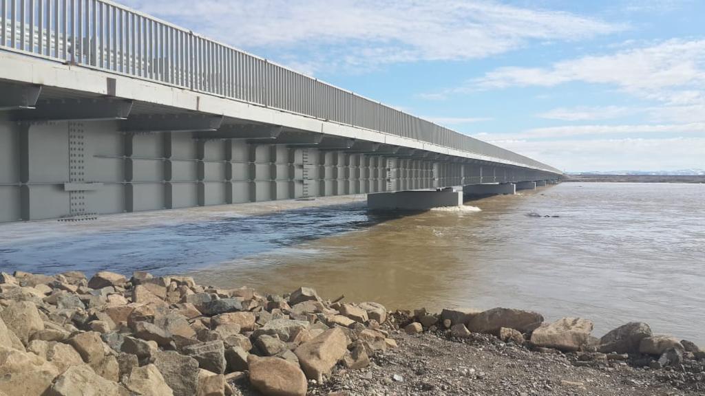 Мостовой переход через реку Мильгувеем
